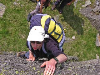 Robert Siddaway rock climbing