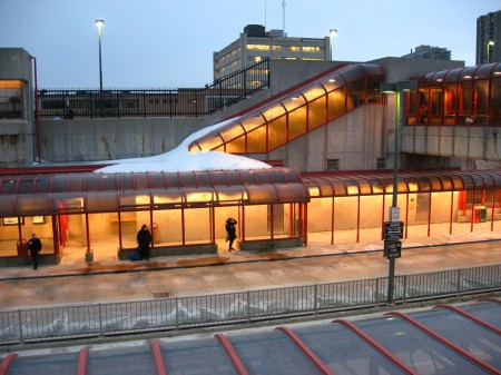 Transitway station, Ottawa