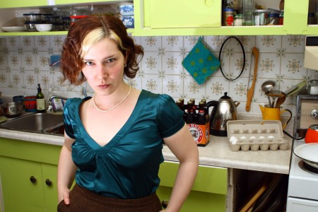 Andrea Simms-Karp in her kitchen