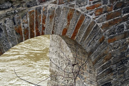 Brick arch and river