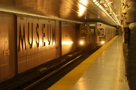 Museum station in the Toronto subway