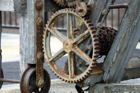 Wheel and chains