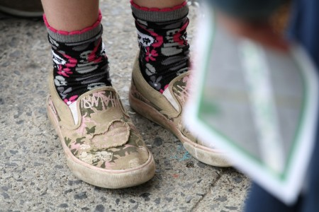 Shoes and map