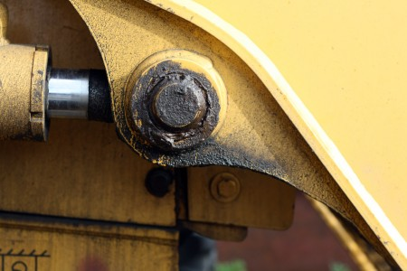 Backhoe machinery detail