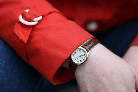 Watch and red jacket