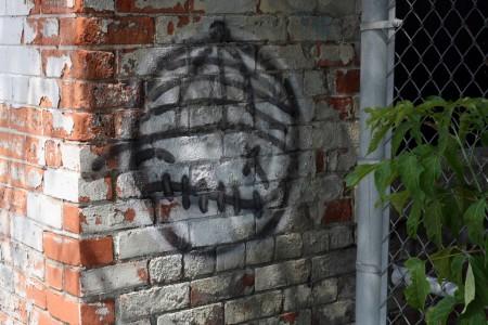 Graffiti on brick, Ottawa