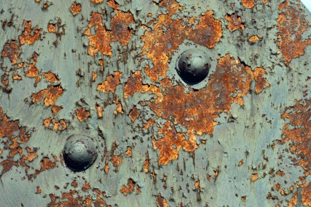 Green paint, red rust