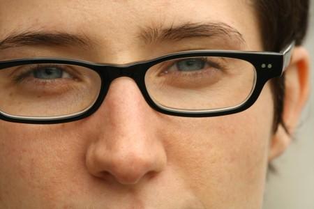 Alison Benjamin in glasses