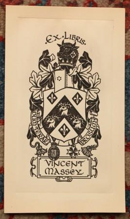 Ex Libris - Vincent Massey