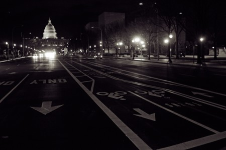 Bike lanes on Pennsylvania Avenue, Washington D.C