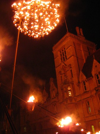 Chandelier of flame, Oxford