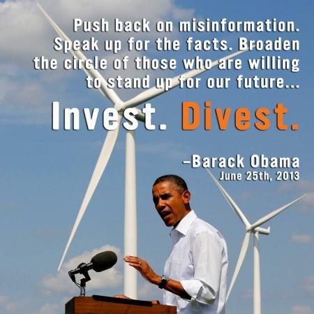 Invest. Divest. -Obama
