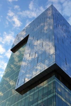 Building mirroring sky, Toronto