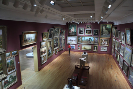 Roomfull of paintings, Art Gallery of Ontario
