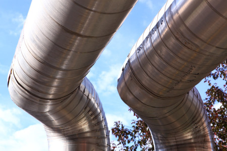 Large metal pipes