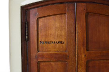 """""""Members only"""" door"""