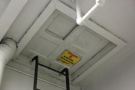 """Do not enter"" hatchway"