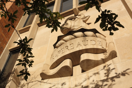 """Sapere Aude"" -motto of Massey College"