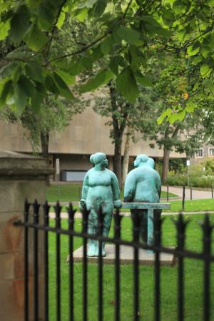 Statue near Victoria University