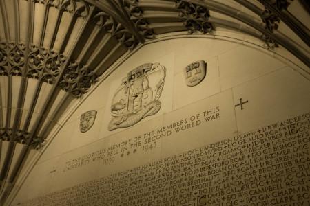 WWII memorial, University of Toronto