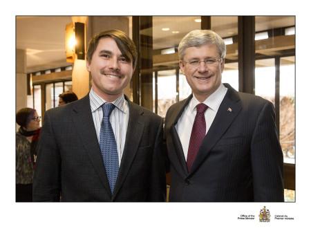 Milan Ilnyckyj and Prime Minister Stephen Harper, 2013-12-02