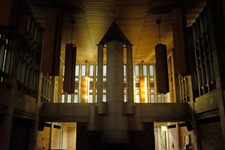 Massey College dining hall