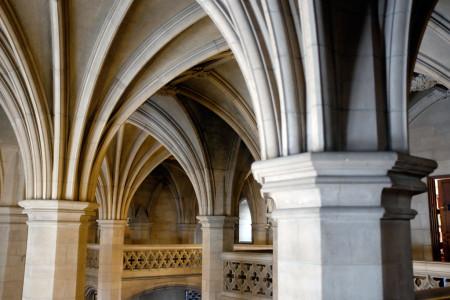 Knox College interior columns