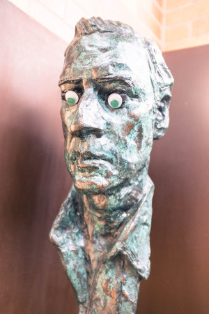 Googly-eyed bust