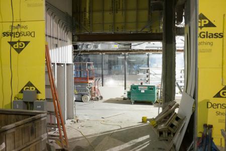 Construction site interior