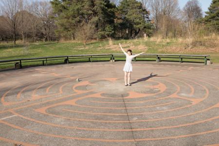 Clara Steinhagen in the High Park labyrinth