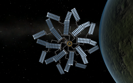 Space-based solar power station - Kerbal Space Program