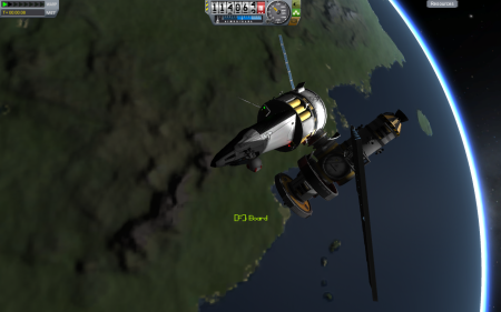 First successful docking Space - Kerbal Space Program