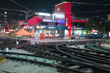 Streetcar track replacement