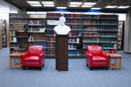 Bust in Kelly Library