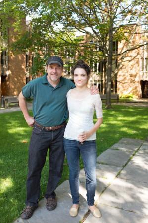 Clara Steinhagen and her father