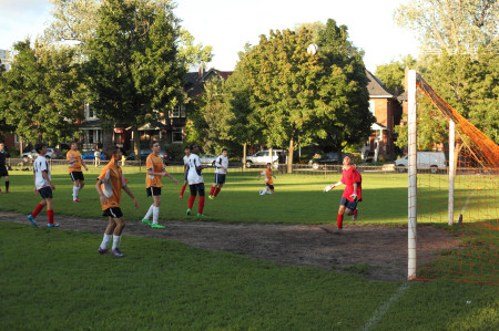 Soccer in Dufferin Grove Park, 1/2