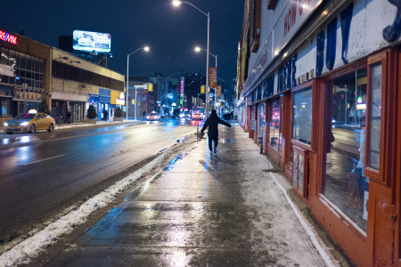 Bloor Street, outside Honest Ed's