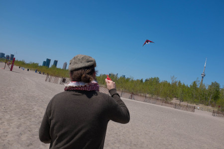 Two-string kite and CN Tower
