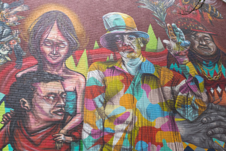 Tophat mural