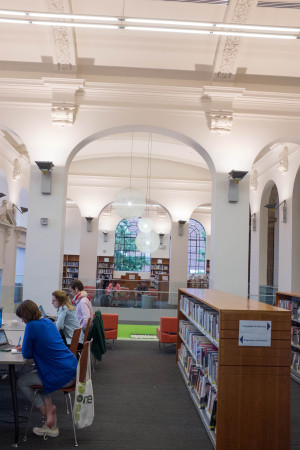 Inside Bloor Gladstone Public Library