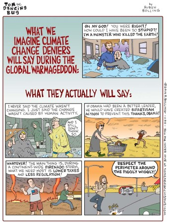 Tom the Dancing Bug - Climate change deniers comic
