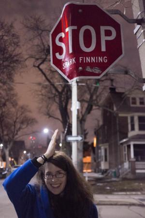 """""""Stop shark finning"""""""