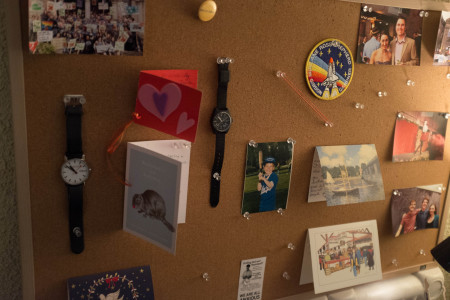Thumbtacks and corkboard