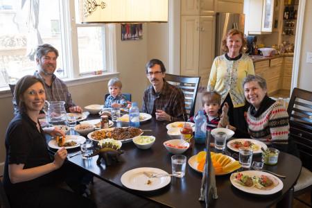 Tacos with Olenka's family