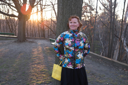 Alena Prazak in High Park on the vernal equinox