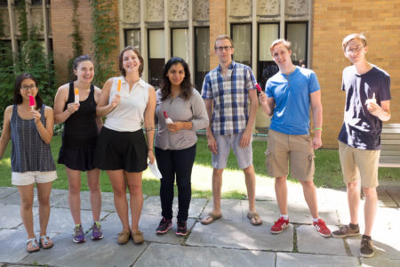 Popsicles in the quad