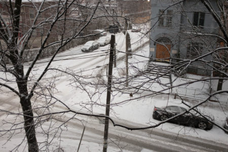 Ulster St. in snow